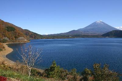 本栖湖半 富士山